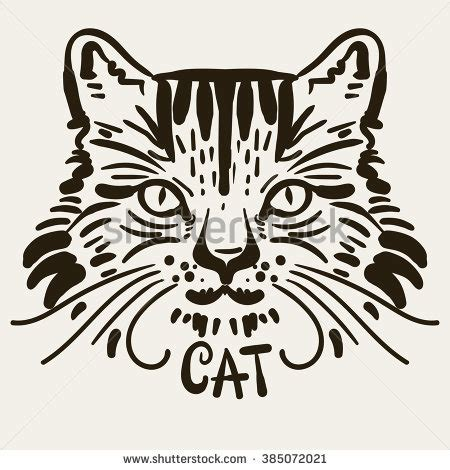 cartoon cat tattoo cat vector stock photos royalty free images vectors