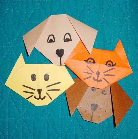 all paper crafts origami tutorial origami cat and allfreepapercrafts
