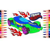 Coloring Cars Team Hot Wheels Pages For Kids