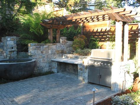 garden kitchen berkeley garden pools patio outdoor kitchen and deck