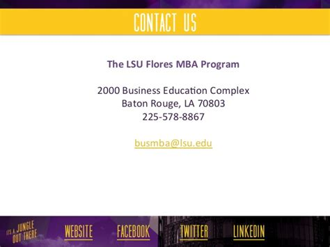 Https Business Lsu Edu Flores Mba Pages Flores Mba Program Aspx by Lsu Flores Mba Student Clothing Guidelines