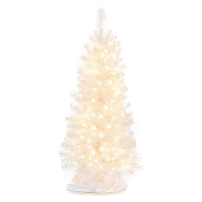 4 pre lit artificial white christmas tree with clear