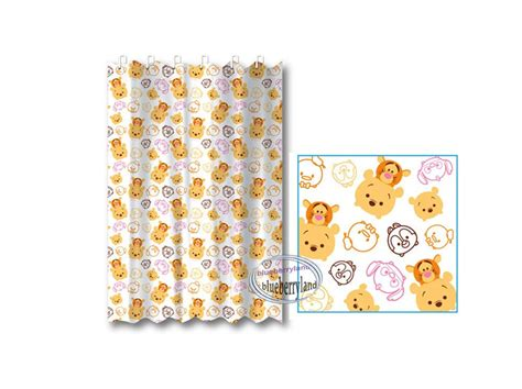 winnie the pooh bathroom accessories disney tsum tsum winnie the pooh shower curtain bathroom