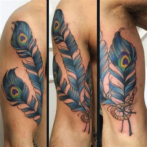 peacock tattoo for men 70 feather designs for masculine ink ideas