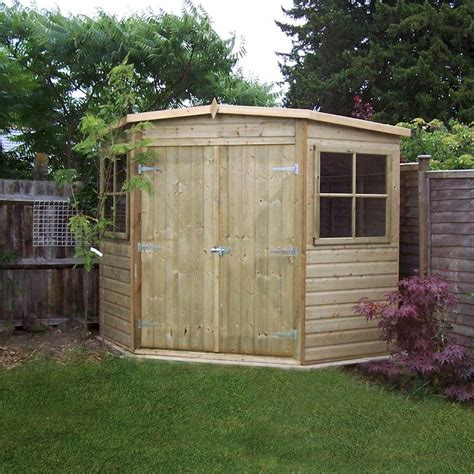 shire pressure treated corner shed   garden