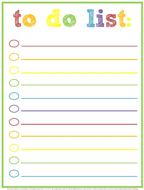 3 free printable to do lists to jumpstart your