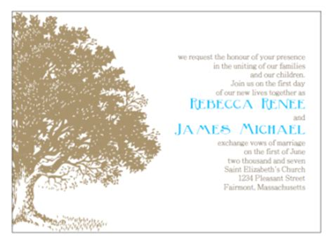 Tree Wedding Invitations Templates Diy Printable Wedding Invitations Templates
