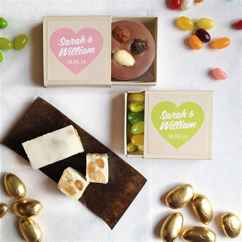 personalised chocolate wedding favours by quirky gift