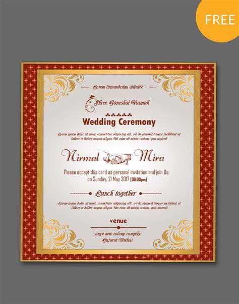 hindu wedding card templates psd indian kankotri card templates