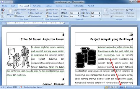 Layout Buku Dengan Ms Word | fardian imam m membuat layout buku dengan ms word