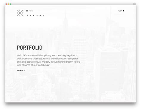 portfolio content layout best minimalist wordpress themes for creatives 2017 colorlib