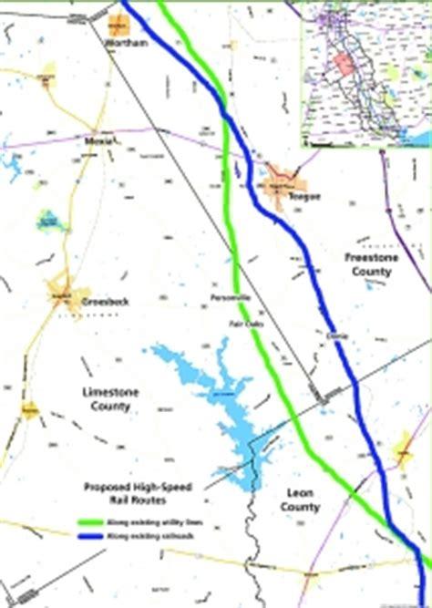 texas high speed rail map high speed rail may cut through limestone county mexia news