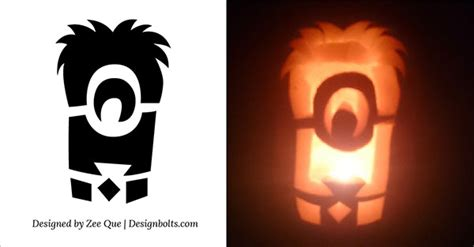 pumpkin carving templates minion 10 best free minion pumpkin carving stencils patterns