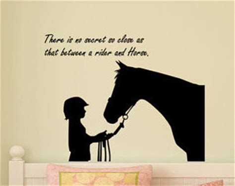 horse decal pony quote wall sticker teen girls room decal wall quote sticker etsy