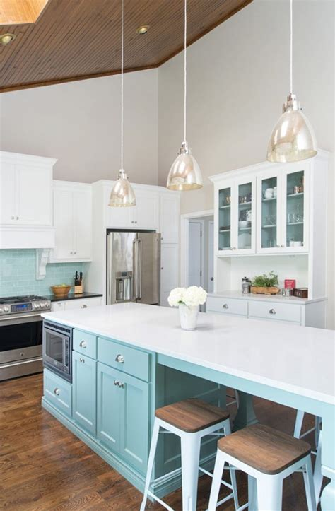 Kitchen Island Lighting For Vaulted Ceiling Profile Cabinet And Design House Of Turquoise