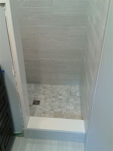 small tile shower small bathroom stand up shower tile tile work
