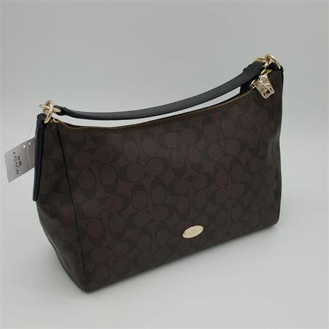 Coach Celeste Hobo Large Sign Black Tas Coach Original coach east west celeste hobo bag on sale 48 hobos