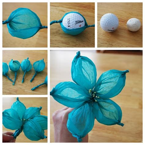 How To Make Flower Paper Balls - wonderful diy gorgeous paper flower using golf