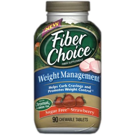 Fiber And Weight Loss by Fiber Choice Sf Strawberry Weight Mangement 90 Count