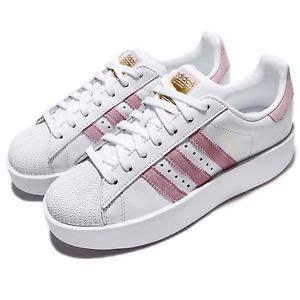 adidas originals superstar bold w platform white pink classic shoes by9076 ebay