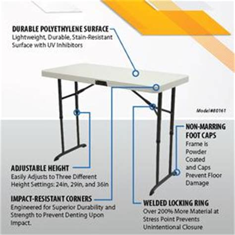borough adjustable height dining table tables commercial amazon com lifetime 80161 4 foot commercial adjustable