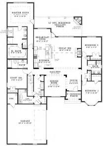 4 Bedroom Open Floor Plan by Best Ideas About Bedroom House Plans Country And 4 Open