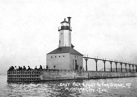 michigan city east pierhead lighthouse indiana at