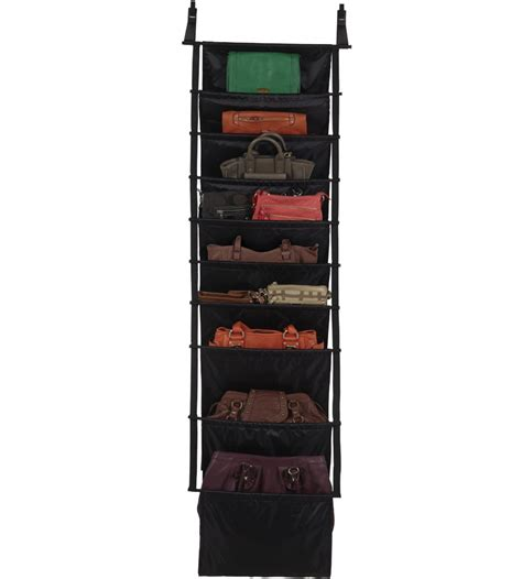 over the door purse rack over the door handbag organizer in purse organizers