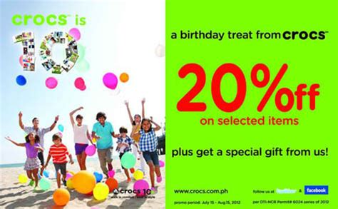 Crocs Gift Card Discount - a birthday treat from crocs philippine contests and promos