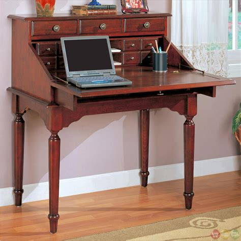 Flip The Desk by Flip Office Desk With Storage Drawers In Cherry Finish Home Office Furniture Shop