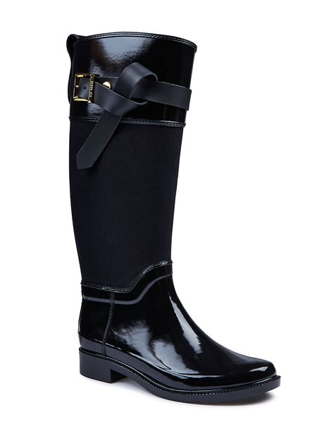 ted baker hto knee high rubber boots in black save 30