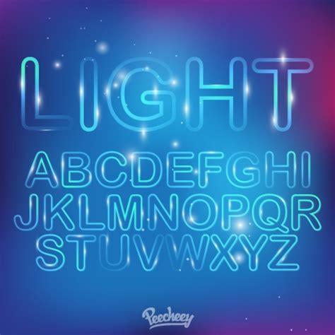 free download neon typography neon light font free vector in adobe illustrator ai ai