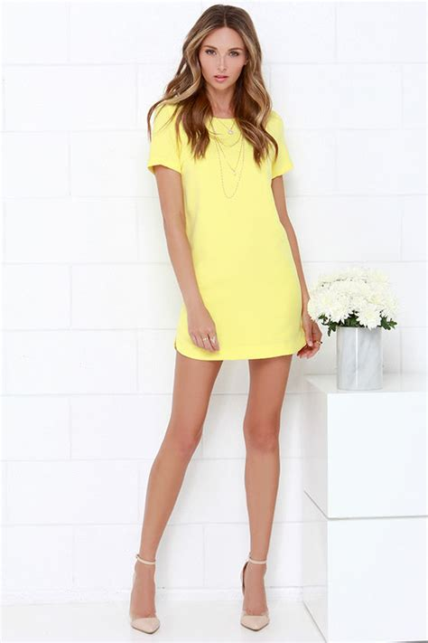 vestidos color chagne yellow dress shift dress sleeve dress 49 00