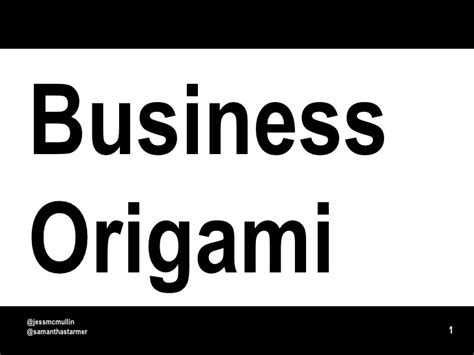 Business Origami - business origami paper prototyping for systems and