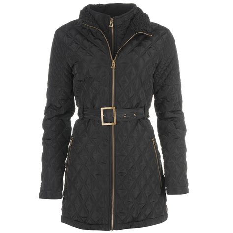 Best Quilted Coats kangol womens quilted jacket sleeve zip fastening coat top ebay