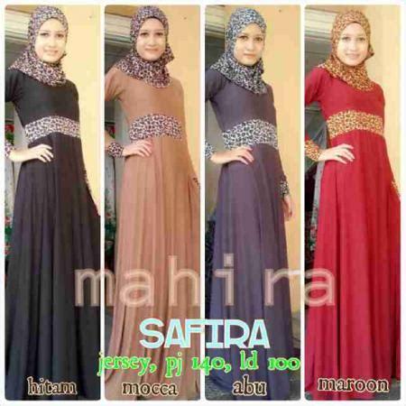 Setelan 3in1 Dress Maxi Skirt Jilbab Set Longdress Dress safira fashion butiq