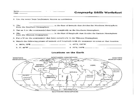 Free Skills Worksheets by Printables Free Map Skills Worksheets Joomsimple