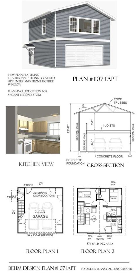 Garage Plans With Loft Space by Floor Plan 2 With 1 Bedroom Enlarging Great Room Make