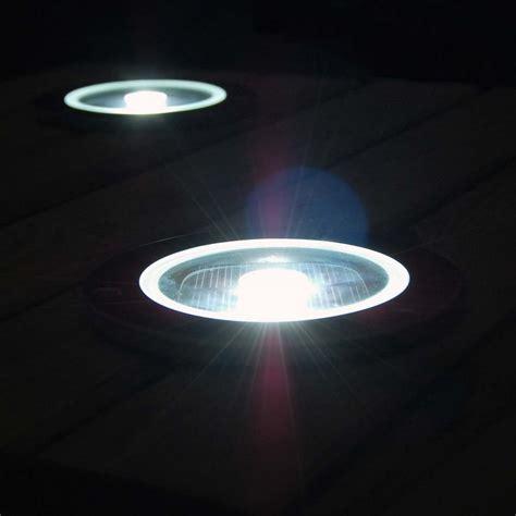 Set Of 4 Solar Round Decking Lights Decking Lights Solar