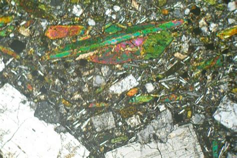 aegirine thin section aegirine phonolite shombole africa thin section