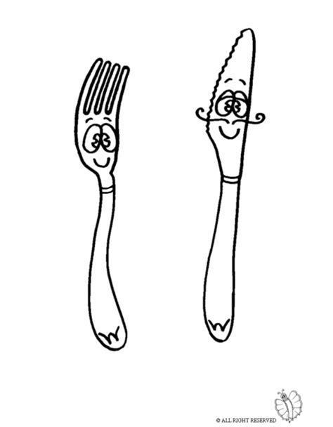 Coloring Page Knife by Coloring Page Of Knife And Fork For Coloring For