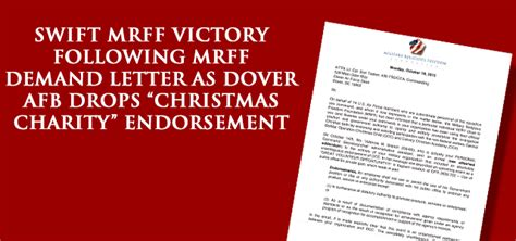 charity endorsement letter breaking victory mrff scores decisive win for