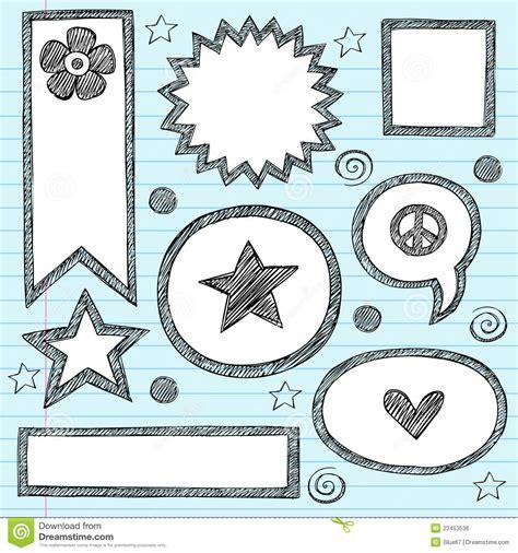 doodle bubbles vector free shape frames sketchy doodle vector set royalty free stock