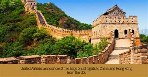 2 free bags on all flights to china and hong kong from the u s travelguzs deals