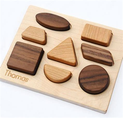 Handmade Wooden Puzzles - wood puzzle personalized wood baby shapes