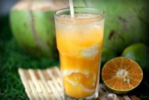 spesial   resep es jeruk kelapa muda mudah