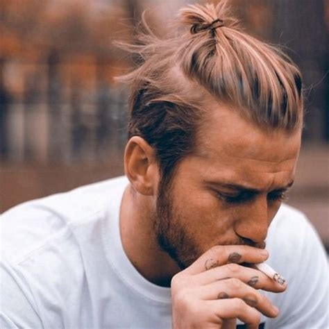 short top knot on guys photo death by elocution beards men long hair and