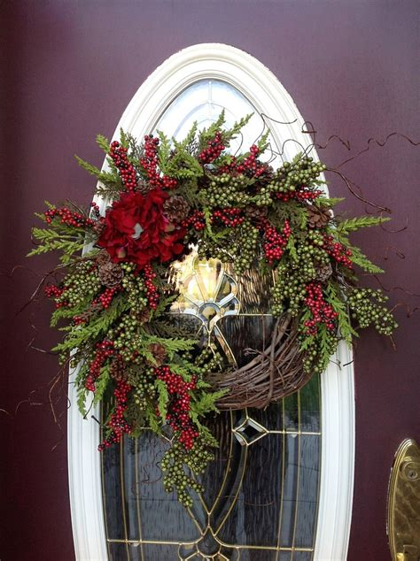 grapevine door wreath via etsy wreaths pinterest