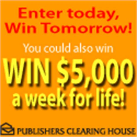 Winner Of 5000 A Week For Life From Pch - win 5000 a week for life from pch publisher s clearinghouse enter online sweeps