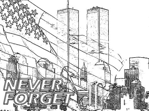 9 11 Memorial Coloring Pages by Printable Coloring Pages For 9 11